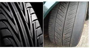 Good Tread & Uneven Tire Wear Pic