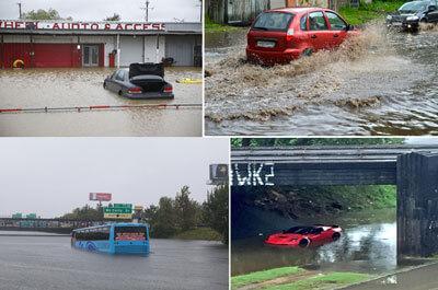 Hurricane Harvey Flood Car Images